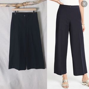 ANN TAYLOR Mariner Wide Leg Pant in Black